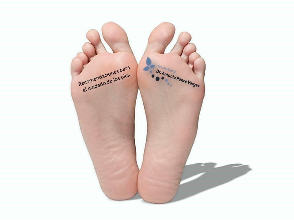 recomendaciones para el cuidado de los pies