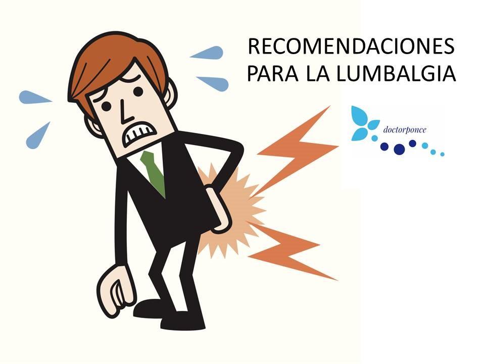 Recomendaciones para la lumbalgia