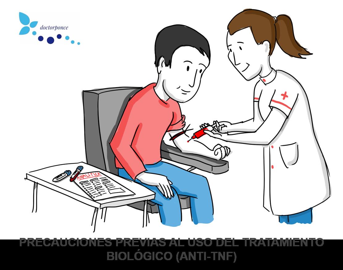 Precauciones previas al tratamiento biológico anti-tnf