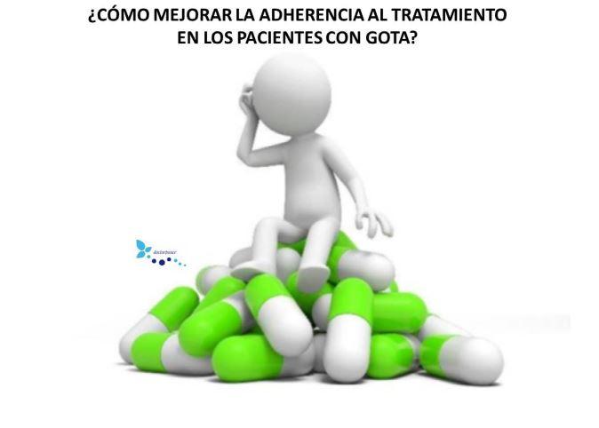 Cómo mejorar la adherencia al tratamiento en los pacientes con gota.