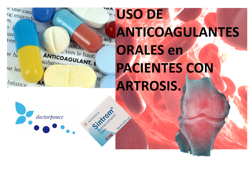 Uso de anticoagulantes en pacientes con artrosis